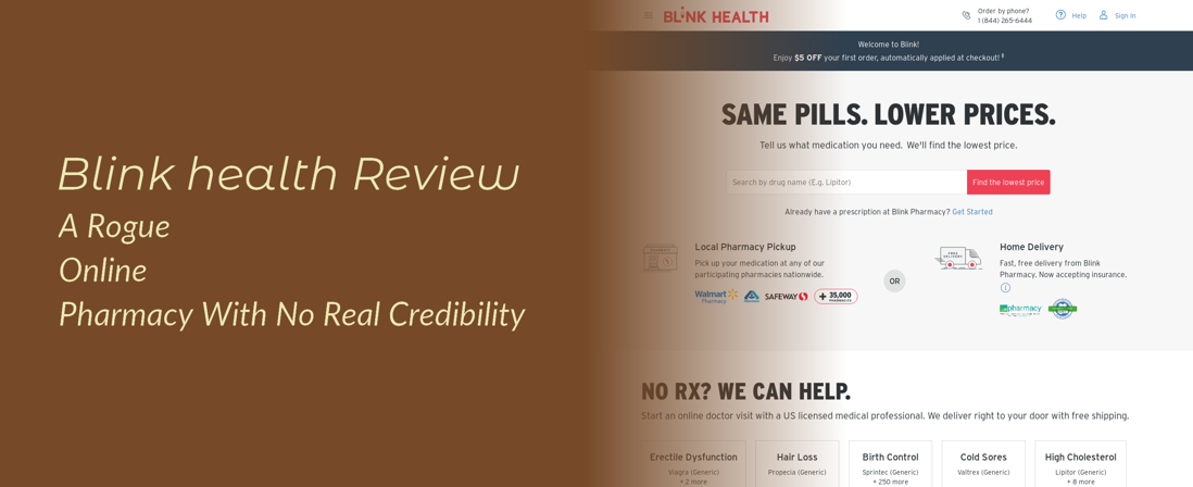 Blink Health Review – A Rogue Online Pharmacy With No Real Credibility