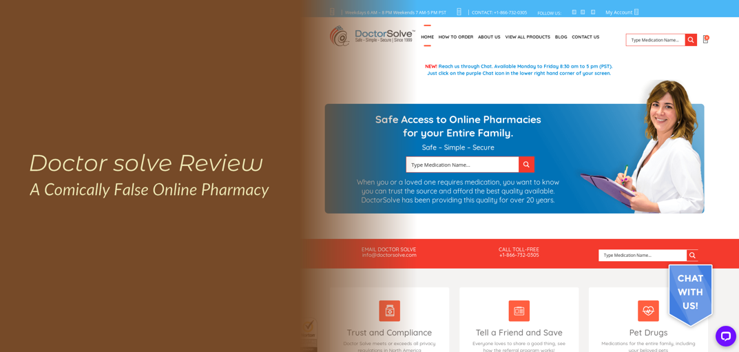 Doctor Solve Review – A Comically False Online Pharmacy