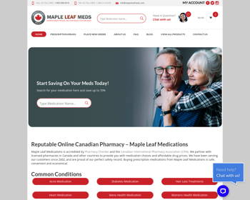 Maple Leaf Meds Reviews – An Unhealthy Pillstore With Low Reporting Standards